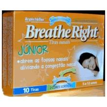 Breathe Right Junior 10 Tiras Nasais